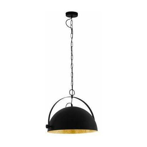 Eglo Covaleda 1 43353 lampa wisząca zwis 1X60W E27 czarna/szara, kolor Czarny