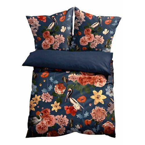 Bonprix Pościel dwustronna w kwiaty niebieski