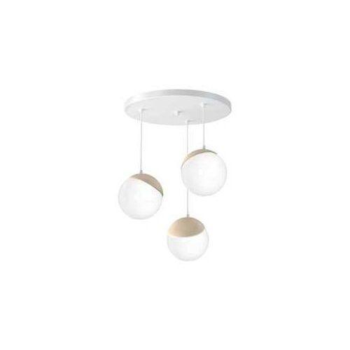 Milagro Sfera Wood MLP5425 lampa wisząca zwis 3x40W E14 biały mat / brązowy (5902693754251)