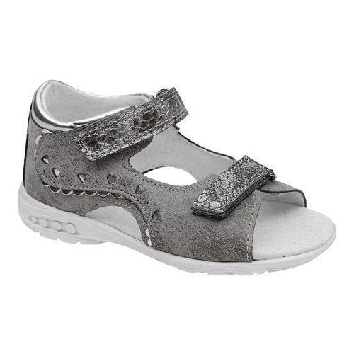 Sandałki dla dziewczynki KORNECKI 4735 Popielate Szare Srebrne, kolor szary
