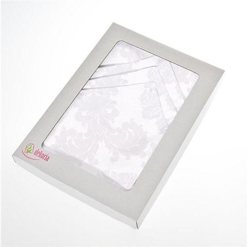 komplet 6 szt. serwetek 42x42cm damasco białe, 42 × 42 cm marki Dekoria