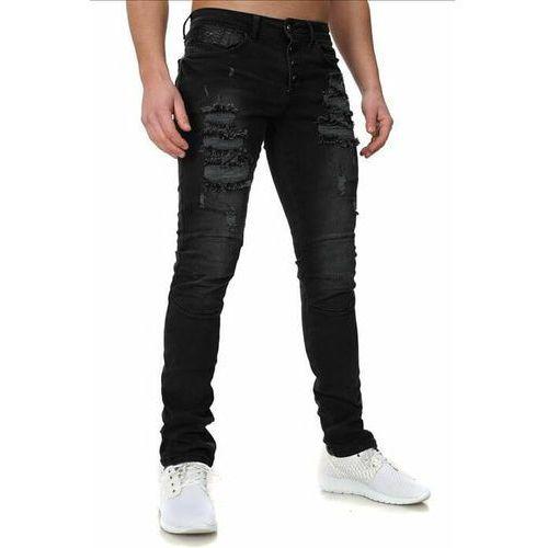 crsm spodnie jeansowe z dziurami - 16001-2, jeansy