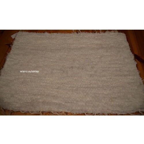 Twórczyni ludowa Chodnik bawełniany (wycieraczka) ręcznie tkany biały (1) 65x50