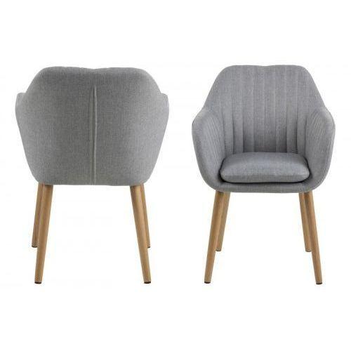 Krzesło Emilia jasnoszare, kolor szary