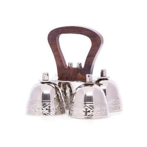 Dzwonek mszalny mosiężny, poczwórny, niklowany marki Produkt polski