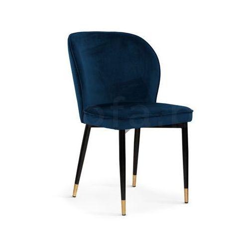 """Krzesło """"TWINS"""" granatowe, kolor niebieski"""