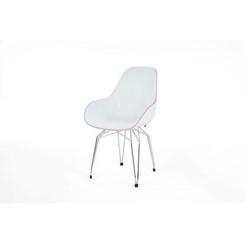 Kubikoff Krzesło DIAMOND BLACK or WHITE DIMPLE TAILORED skóra diamonddimpletailored-leather BLK/WHT, kolor różowy