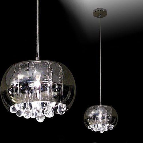 Dekoracyjna lampa wisząca moonlight p0076-01d szklana oprawa glamour kryształki marki Maxlight