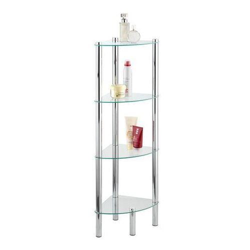 Narożna półka łazienkowa YAGO, szklana - 4 poziomy, WENKO, B000M37VUW