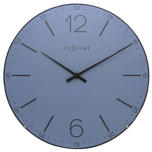 NeXtime - Zegar ścienny Index Dome - niebieski