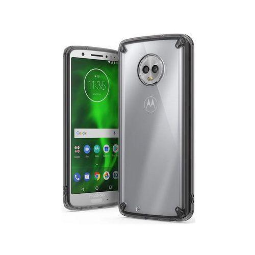 Etui Ringke Fusion Motorola Moto G6 Smoke Black - Czarny, kolor czarny