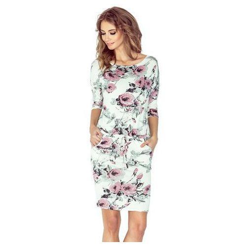 Sukienka sportowa w kwiaty NM-13-72
