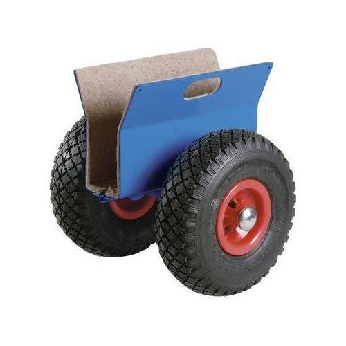 Wózek na płyty, nośność 250 kg, ogumienie pneumatyczne, podnoszenie płyt 60 - 11