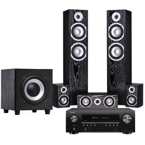 Kino domowe DENON AVR-S650H + WILSON Estrada + Sub-9 Czarny