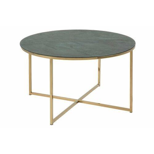 Stolik kawowy Alisma okrągły Gold/Marabl e Green (5713941012555)
