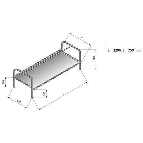Nadstawka do koszy 2200x750 mm   LOZAMET, LO365/2275