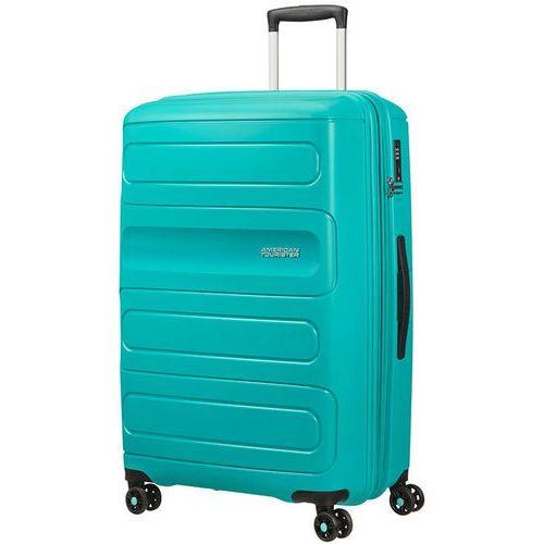 American tourister sunside duża poszerzana walizka 77 cm / turkusowa - aero turquoise (5414847861864)