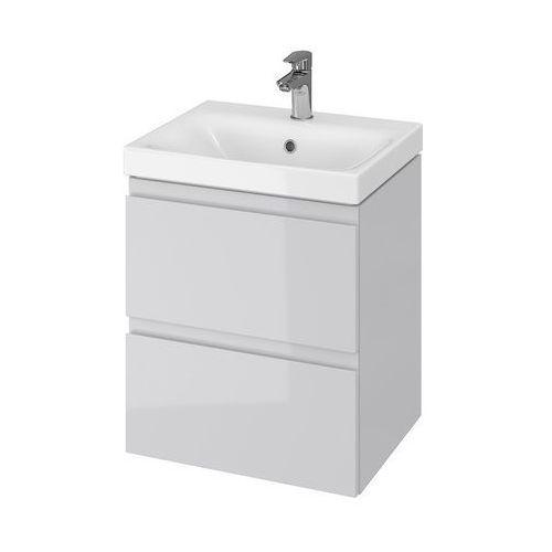 CERSANIT set szafka Moduo szary połysk + umywalka Moduo 50 S801-219 (5902115744716)