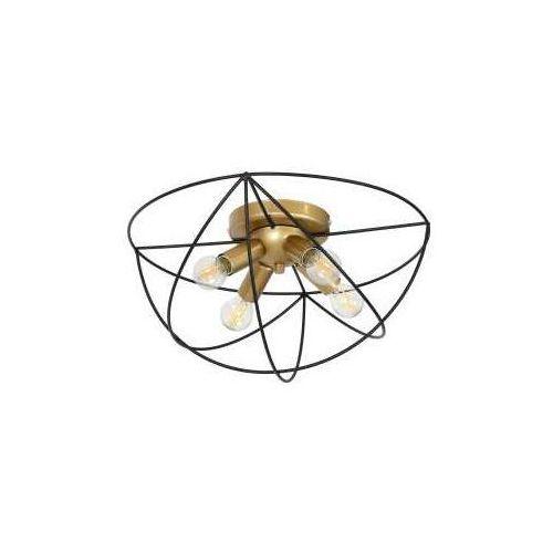 Luminex Copernicus 1097 plafon lampa sufitowa 4x60W E14 czarny / złoty (5907565910971)