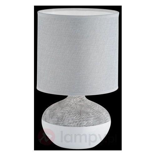 Honsel norwich lampa stołowa siwy, biały, 1-punktowy - nowoczesny - obszar wewnętrzny - norwich - czas dostawy: od 4-8 dni roboczych (4001133561938)