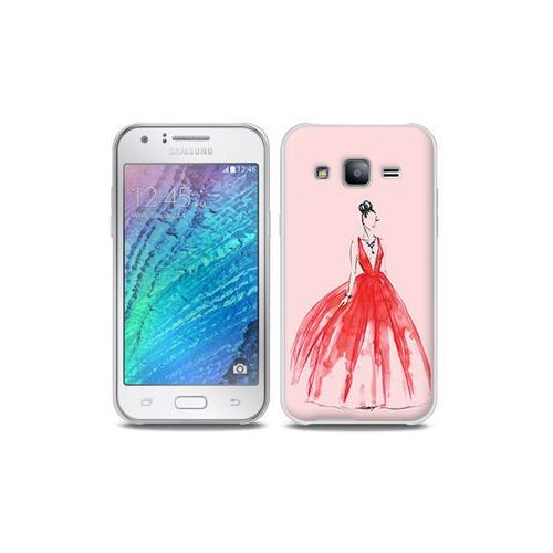 Samsung Galaxy J5 - etui na telefon Full Body Slim Fantastic - czerwona suknia