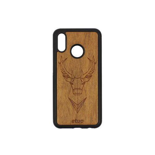 Huawei P20 Lite - etui na telefon Wood Case - Jeleń - imbuia