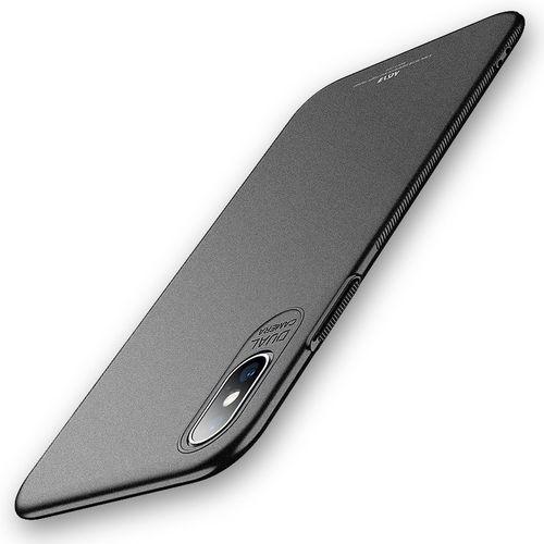 Etui MSVII Slim Case do iPhone XS Max 6.5 Czarne Matowe, kolor czarny
