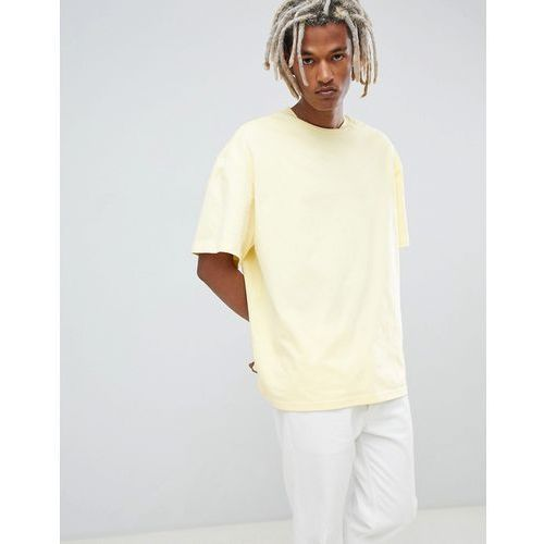 Weekday Oversized T-Shirt In Yellow - Yellow