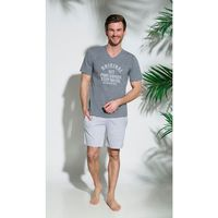 Piżama Taro Marcel 2197 kr/r S-XL '18 XL, czerwono-grafitowy. Taro, L, M, S, XL