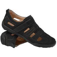 Półbuty Sandały KACPER 1-4208-519 Czarne - Czarny, kolor czarny