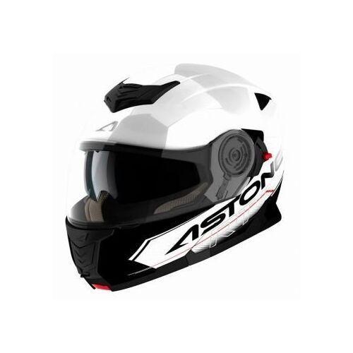 graphic touring white/blac kask szczękowy marki Astone