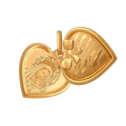 Rodium Złoty medalik - 38541 - pr.585