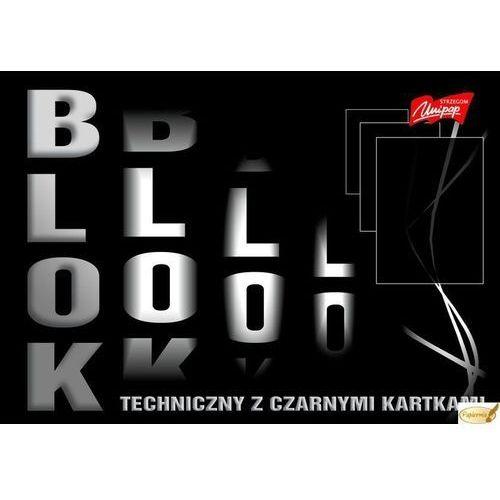 Blok techniczny z czarnymi kartkami 180 gm2, a3, 10k.