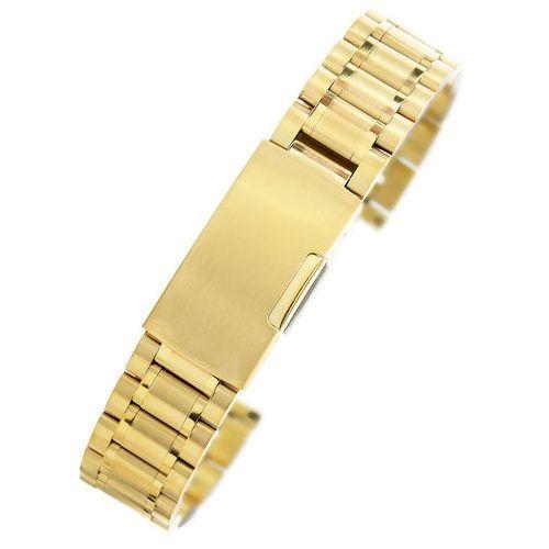 Złota stalowa bransoleta do zegarka SG1801 - 18mm