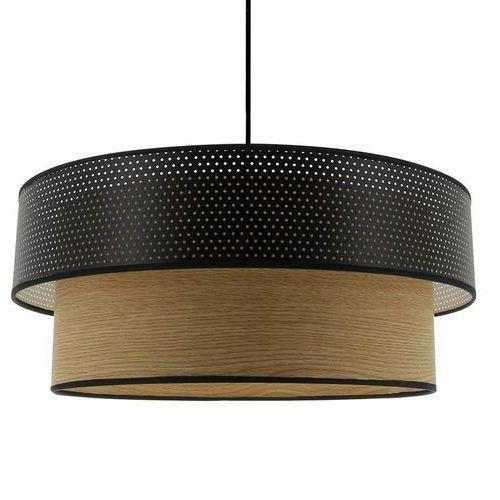 Vintage-lampa wisząca z bawełny perforowany & drewno Ø48cm marki Metropolight