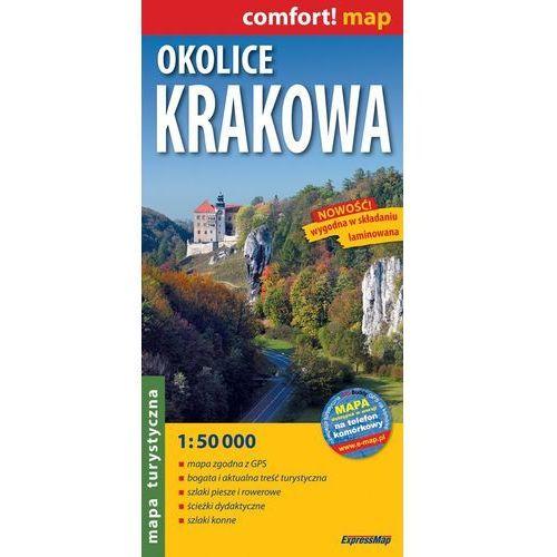 Okolice Krakowa Mapa laminowana 1:50 000, oprawa miękka