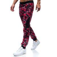 Red fireball Spodnie męskie dresowe joggery moro-czerwone denley 80598