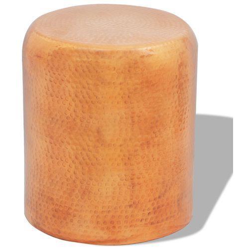 Vidaxl  aluminiowy stolik do kawy taboret kolor miedź/mosiądz (8718475950929)