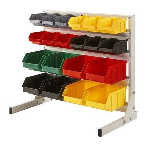 Regał warsztatowy/garażowy z pojemnikami 20 szt. - stojący marki Array