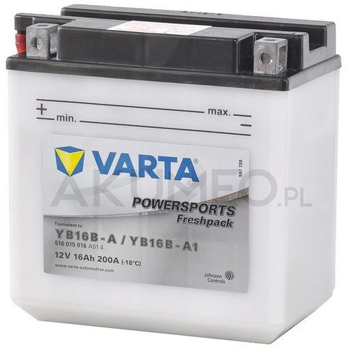 Varta Akumulator powersports yb16b-a 12v 16ah 200a lewy+ ol