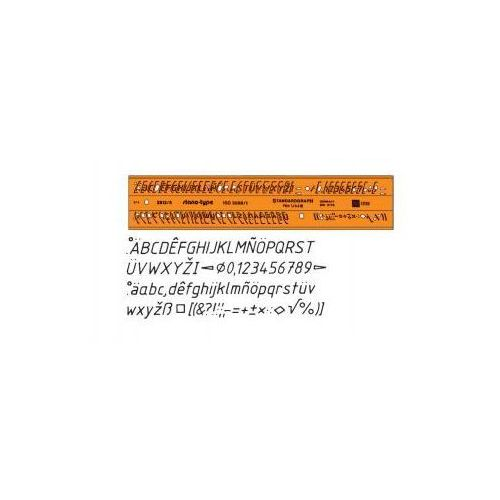 Szablony techniczne Szablon literowo-cyfrowy 7mm kursywa x1