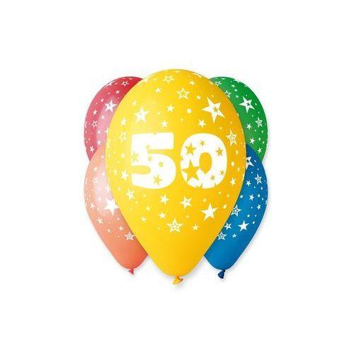 Gemar Balony pastelowe z nadrukiem 50 - mix - 30 cm - 5 szt. (8021886305142)