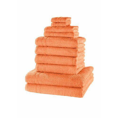 Bonprix Komplet ręczników (10 części) morelowy