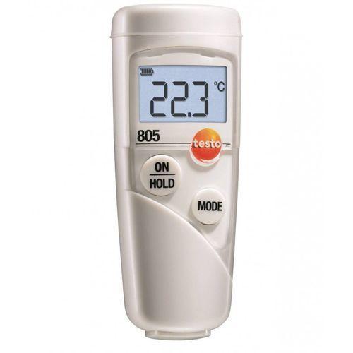 Termometr bezdotykowy 1 punktowy, kieszonkowy pirometr spożywczy z futerałem, TESTO 805 zestaw