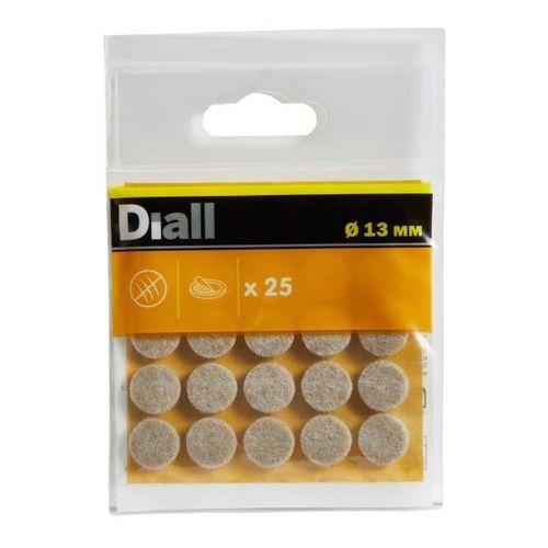 Diall Podkładki samoprzylepne filcowe 13 mm beżowe 25 szt.