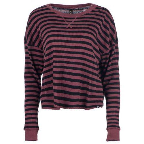 Fox t-shirt damski striped out thermal corp xs burgund