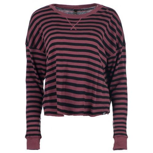 t-shirt damski striped out thermal corp l burgund marki Fox