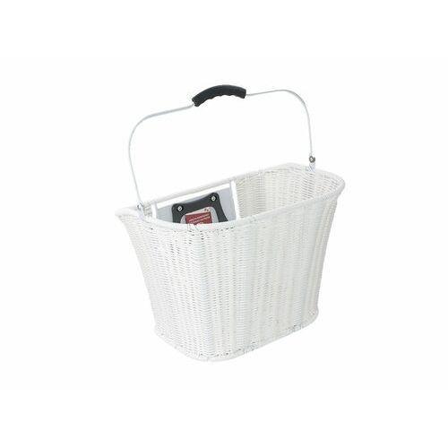 OKAZJA - Apg Kosz przedni ht-185 pleciony z tworzywa sztucznego biały- rozmiar 35x25x26cm