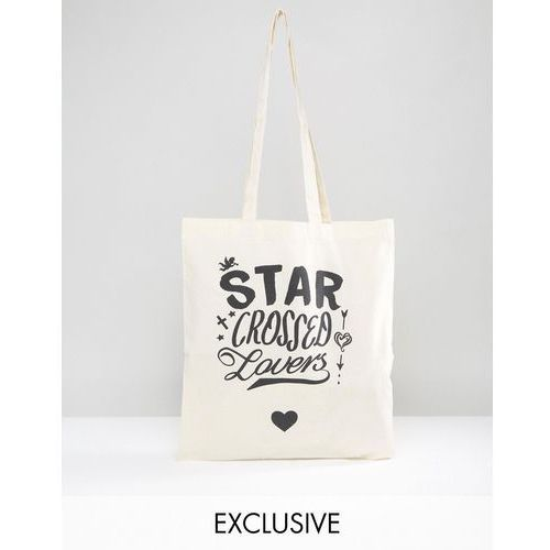 Reclaimed vintage  inspired x romeo & juliet tote bag with quote print - beige