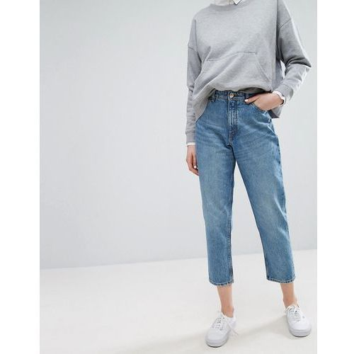 taiki high waist mom jeans - blue, Monki
